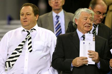 Newcastle owner Mike Ashley and director of football Joe Kinnear