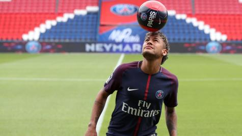 Neymar Gives Press Conference After Decision on His Transfer to PSG