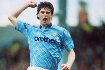 Niall Quinn celebrates a goal for Manchester City in 1992. Picture: Shaun Botterill/ALLSPORT