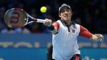Kei Nishikori is into the semi-finals as he tries to defend his title in Barcelona
