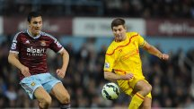 Liverpool's Steven Gerrard, pictured right, looked somewhat off the pace against West Ham on Saturday