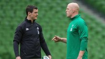 Paul O'Connell, right, says beating England would rank among the best victories of his career