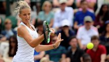 Czech Republic's Karolina Pliskova battled into the second round of the Prague Open