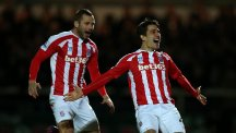 Bojan Krkic, right, celebrates his stunning opener