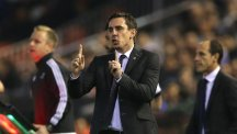 Gary Neville is having to face the wrath of discontented fans at Valencia