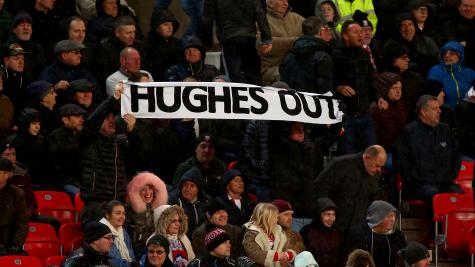 Stoke boss Hughes vows to improve results after latest loss