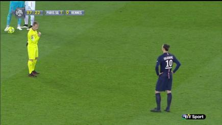 Ibrahimovic refuses to obey the referee