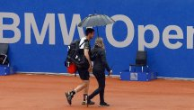 Andy Murray was frustrated by the weather in Munich (AP)