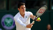 Milos Raonic is vying for a place at the ATP World Tour Finals in London