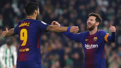 Messi and Suarez on the double in Barca stroll