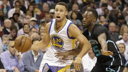 Last season's MVP Stephen Curry was once again in inspired form for the Golden State Warriors