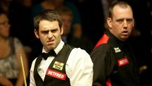 Mark Williams, right, finally got the better of Ronnie O'Sullivan, left