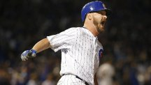 Reliever Travis Wood belted a home run for the Cubs against the Giants (AP)