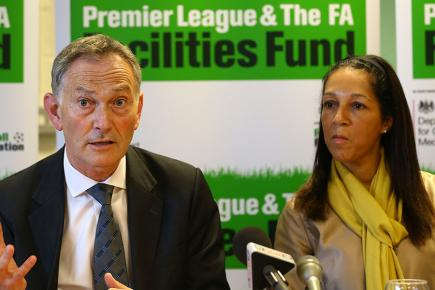 Richard Scudamore and Helen Grant