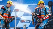 Rins and Marquez review another double podium result