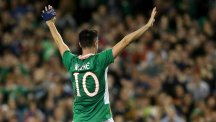 Republic of Ireland skipper Robbie Keane saluted the crowd as his international career came to an end