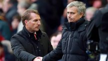 Brendan Rodgers, pictured left, is relishing Tuesday night's battle with Jose Mourinho, right
