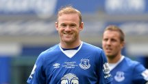 Wayne Rooney turned out for former club Everton in Duncan Ferguson's testimonial on Sunday.
