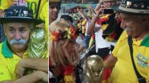 'Saddest man in Brazil' hands over trophy to German