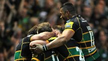 Northampton Saints celebrate