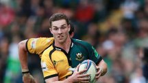 George North went over twice for Northampton