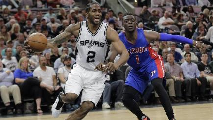 Spurs stop surging Pistons to clinch playoff berth