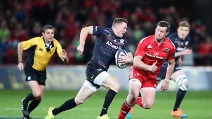 Saracens wing Chris Ashton in European Champions Cup action