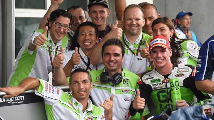 Scott Redding and his Gresini team