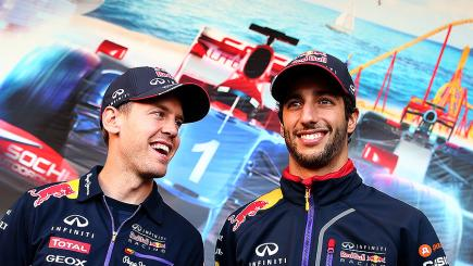 Sebastian Vettel (left) and Daniel Ricciardo