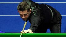 Mark Selby, pictured, was given a big scare by first-round opponent Kurt Maflin