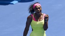 Serena Williams is into the last four in Melbourne (AP)