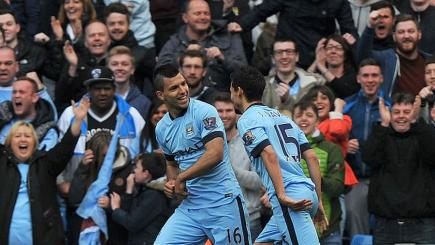 Aguero sinks Spurs to all but seal top-four spot