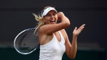 Maria Sharapova had to fight hard for a three-set victory