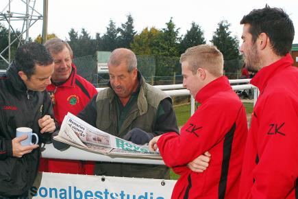 Shortwood's managers and players reminisce over past successes (Picture: Carl Hewlett/TWM)