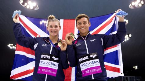Tom Daley & Grace Reid win 3m springboard silver