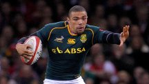 Bryan Habana went over for a first-half try for South Africa