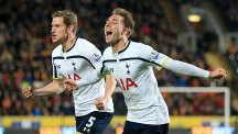 Christian Eriksen, right, starred for Tottenham