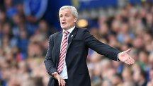 Stoke manager Mark Hughes believes his side are being harshly punished for the jostling which occurs in the penalty area