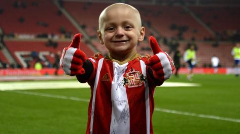 Sunderland and St Johnstone fans pay respects to Bradley Lowery