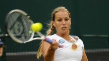 Dominika Cibulkova, left, was beaten by 15-year-old Cici Bellis at the US Open