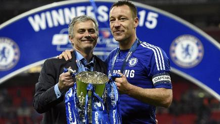 John Terry, right, got his hands on some silverware on Sunday