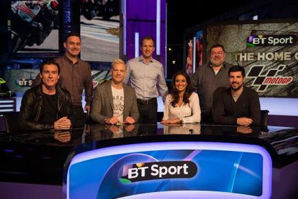 The BT Sport MotoGP team