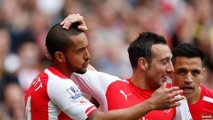 Theo Walcott and Santi Cazorla