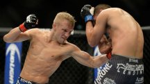 TJ Dillashaw stops Joe Soto in their UFC title bout in Sacramento