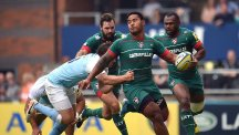 Manu Tuilagi, centre, is struggling with a groin injury
