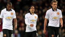 Manchester United dropped two points at Villa Park