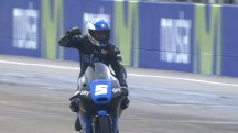 Victory for Fenati in challenging wet-drying conditions