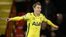 Christian Eriksen sent Tottenham through to the Capital One Cup final with a late strike against Sheffield United