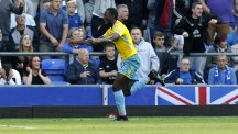 Yannick Bolasie, pictured, was praised by boss Neil Warnock after he helped Crystal Palace to victory over Everton
