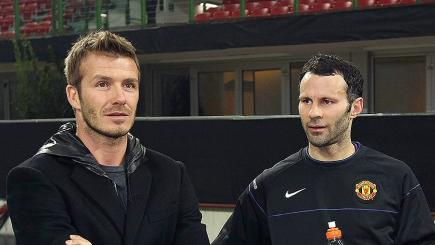 Watch David Beckham and Ryan Giggs discuss the latter's stint as Reds boss